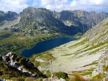 Panorama del valle polaco de cinco lagos Fotografía de archivo libre de regalías