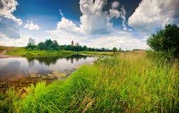 Panorama del verano Imagen de archivo libre de regalías