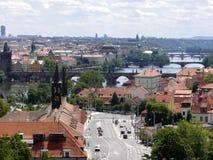 Panorama del verano de Praga Imagen de archivo libre de regalías