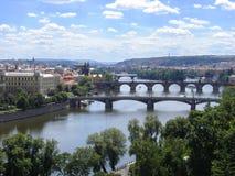 Panorama del verano de Praga Foto de archivo