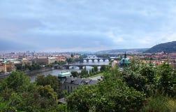 Panorama del verano de Praga Fotografía de archivo
