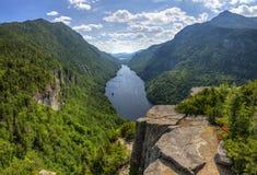 Panorama del verano del lago Ausable Fotos de archivo libres de regalías