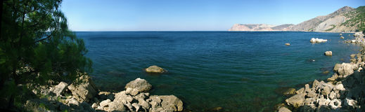 Panorama del verano del mar imágenes de archivo libres de regalías
