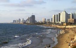 Panorama del verano julio de Tel Aviv foto de archivo libre de regalías