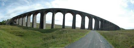 Panorama del viadotto di Ribblehead Fotografia Stock