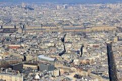 Panorama del viejo centro de ciudad en París, Francia Imagen de archivo libre de regalías