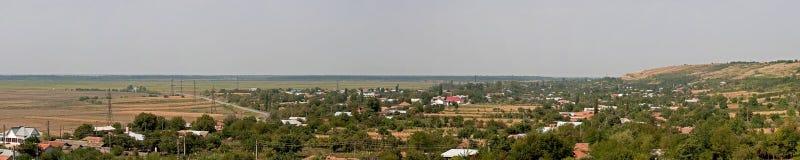 Panorama del villaggio Fotografia Stock