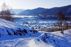 Panorama del villaggio di hemu Fotografia Stock