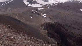 Panorama del volcán de Mutnovsky almacen de video