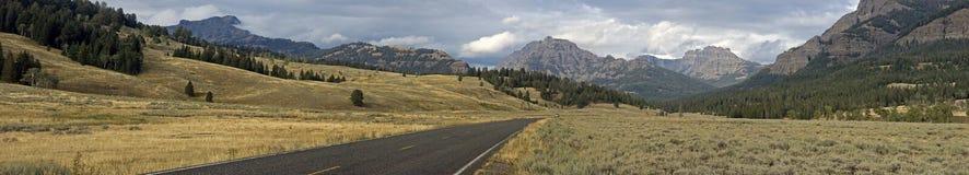 Panorama del Yellowstone della valle di Lamar Fotografia Stock Libera da Diritti