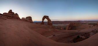 Panorama delicato dell'arco Fotografie Stock Libere da Diritti