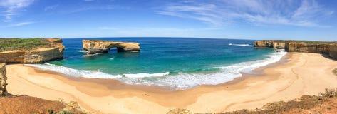 Panorama dell'allerta del Razorback lungo la grande strada dell'oceano, Australia Immagine Stock Libera da Diritti