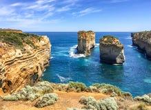 Panorama dell'allerta del Razorback lungo la grande strada dell'oceano, Australia Fotografia Stock