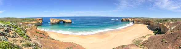 Panorama dell'allerta del Razorback lungo la grande strada dell'oceano, Australia Fotografia Stock Libera da Diritti