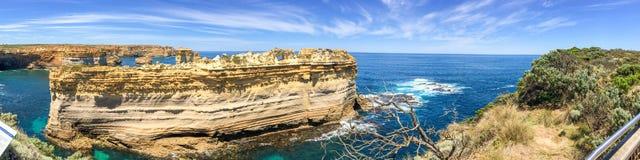 Panorama dell'allerta del Razorback lungo la grande strada dell'oceano, Australia Immagini Stock