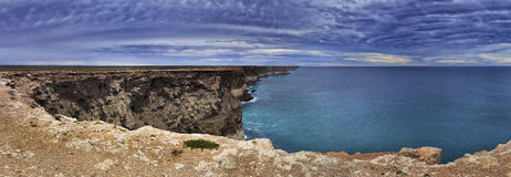 Panorama dell'allerta dell'oceano dell'Australia Meridionale Immagini Stock