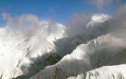 Panorama dell'alta montagna Fotografie Stock Libere da Diritti