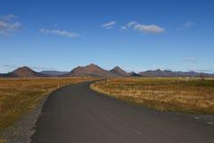 Panorama dell'altopiano dell'Islanda immagini stock