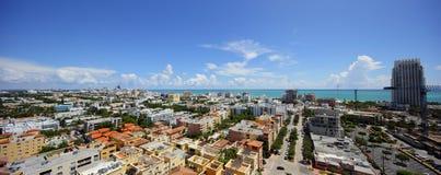 Panorama dell'antenna di Miami Beach Fotografia Stock Libera da Diritti
