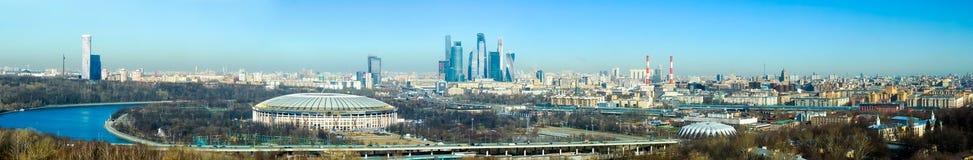 Panorama dell'antenna di Mosca Fotografia Stock Libera da Diritti