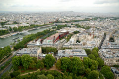 Panorama dell'antenna di Parigi Immagine Stock