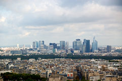 Panorama dell'antenna di Parigi Fotografia Stock Libera da Diritti
