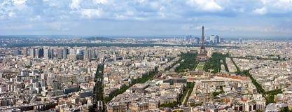 Panorama dell'antenna di Parigi Fotografie Stock Libere da Diritti