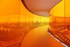 Panorama dell'arcobaleno a ARoS Art Museum, Aarhus, Danimarca Immagini Stock Libere da Diritti