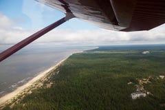 Panorama dell'aria dello sbarco Fotografia Stock