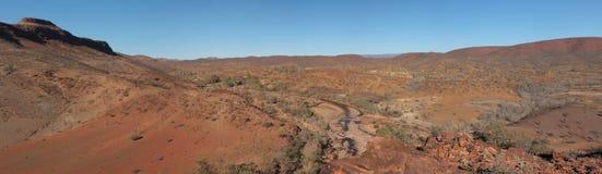 Panorama dell'australiano outback Fotografie Stock Libere da Diritti