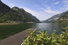 Panorama dell'Austria del lago Fotografia Stock Libera da Diritti