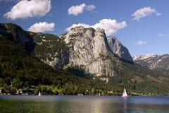 Panorama dell'Austria Grundlsee Immagini Stock Libere da Diritti