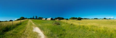 panorama dell'azienda agricola di pollice 12x36 immagine stock