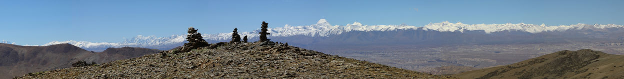 Panorama dell'Himalaya fotografie stock
