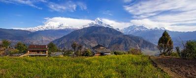 Panorama dell'Himalaya Immagine Stock