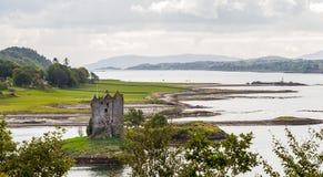 Panorama dell'inseguitore del castello, Scozia fotografia stock