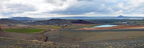 Panorama dell'Islanda Fotografie Stock