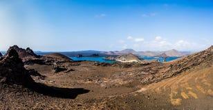 Panorama dell'isola di Bartolome fotografie stock libere da diritti