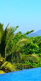 Panorama dell'isola di paradiso Fotografie Stock