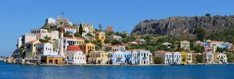 Panorama dell'isola Grecia di Kastellorizo Fotografia Stock Libera da Diritti