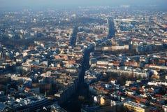 Panorama dell'occhio degli uccelli di Berlino Fotografia Stock Libera da Diritti