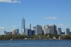 Panorama dell'orizzonte del Lower Manhattan Fotografie Stock Libere da Diritti