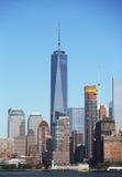 Panorama dell'orizzonte del Lower Manhattan Immagini Stock