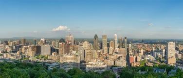 Panorama dell'orizzonte della città di Montreal Fotografie Stock Libere da Diritti