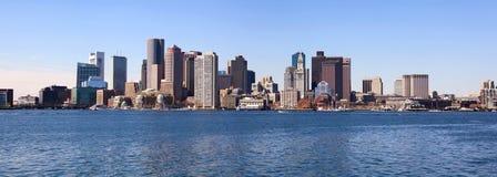 Panorama dell'orizzonte di Boston Immagini Stock Libere da Diritti