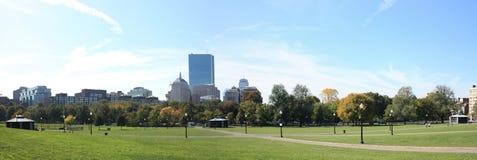 Panorama dell'orizzonte di Boston Fotografia Stock