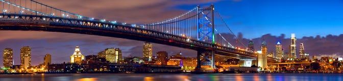 Panorama dell'orizzonte di Filadelfia Immagine Stock Libera da Diritti