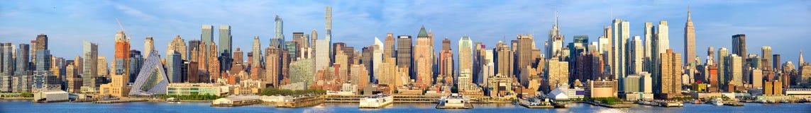 Panorama dell'orizzonte di Manhattan Fotografia Stock