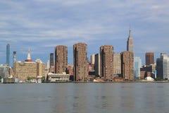 Panorama dell'orizzonte di Manhattan di Midtown Fotografia Stock Libera da Diritti