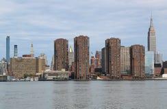 Panorama dell'orizzonte di Manhattan di Midtown Immagine Stock Libera da Diritti